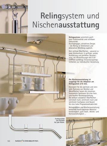 Relingsystem und Nischenausstattung - Hettich
