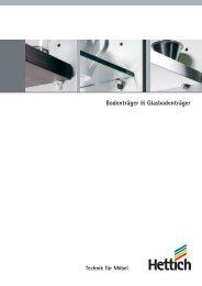 Bodenträger & Glasbodenträger - Hettich