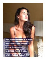 TOP MUMBAI ESCORTS PROVIDER AND GOA ESCORTS PROVIDER | KABIR SHARMA: +919867744025