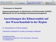 Auswirkungen des Klimawandels auf den ... - Hessenwasser