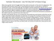 Nutrakick Testo Booster : Boosts The Metabolism Of Your Body