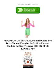 EPUB$ Get Out of My Life  but First Could You Drive Me and Cheryl to the Mall A Parent's Guide to the New Teenager EBOOK EPUB KINDLE PDF