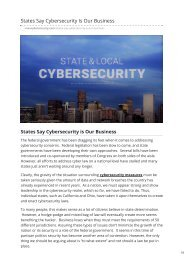 States Say Cybersecurity Is Our Business maxcybersecurity.com-