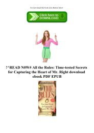 !^READ N0W# All the Rules Time-tested Secrets for Capturing the Heart of Mr. Right download ebook PDF EPUB