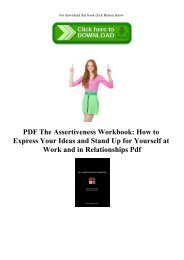 READ PDF The Assertiveness Workbook How to Express Your Ideas and Stand Up for Yourself at Work and in Relationships Pdf