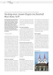 Musik und Liturgie Nr. 2//2019: Verding einer nüwen Orgeln ins Gotshuß Muri Anno 1619