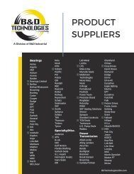 B&D Technologies Product Suppliers