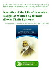 (Epub Kindle) Narrative of the Life of Frederick Douglass Written by Himself (Dover Thrift Editions) EPUB  PDF by Frederick Douglass
