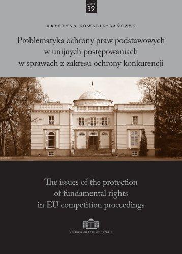 Problematyka ochrony praw podstawowych w unijnych ...