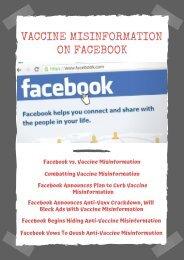 Vaccine Misinformation on Facebook
