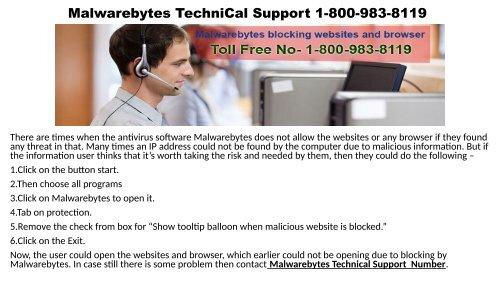 Malwarebytes Customer Support Number 1-800-983-8119