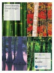 Green Brands, Global Insight - Landor Associates