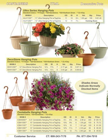 Decorative Pots - WH Milikowski