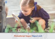 Scotch College Philanthropy Impact Report 2018