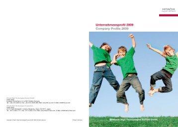 Unternehmensprofil 2009 Company Profile 2009 - Hitachi High ...
