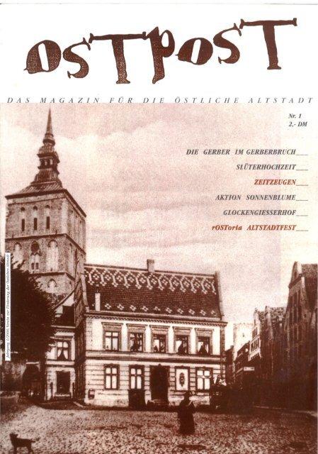 OSTPOST - Das Altstadtmagazin aus Rostock - Ausgabe 1