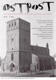 OSTPOST - Das Altstadtmagazin aus Rostock - Ausgabe 35
