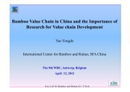 Bamboo Value Chain in China and the Importance ... - World Bamboo
