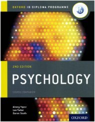 SHELF 9780198398110 OUP DP Psychology 40p