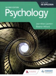 SHELF 9781510425774 Psychology for the IB Diploma Second ed 40p