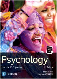SHELF 9781292210995 Pearson DP Psychology 40p