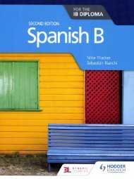 SHELF 9781510446557 Spanish B for the IB Diploma 2e 50p