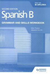 SHELF 9781510447608 Spanish B for the IB Diploma Grammar and Skills Workbook 2e 25p