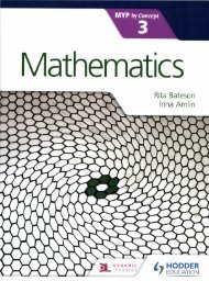 SHELF 9781471881039 Mathematics for the IB MYP 3 40p