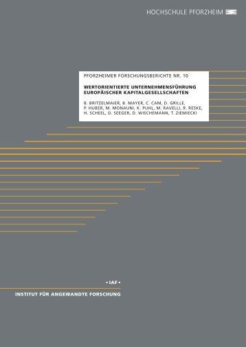 Britzelmaier, Bernd et al.: Wertorientierte Unternehmensführung ...