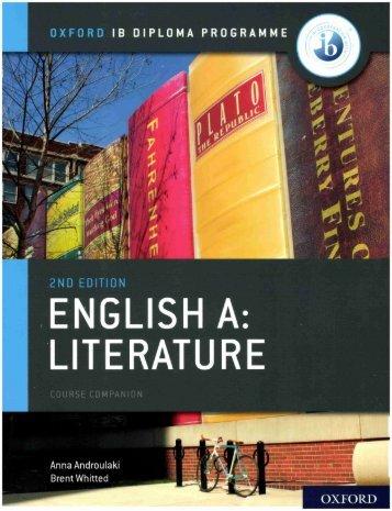 SHELF 9780198434610 IB English A Literature Course Companion 50p