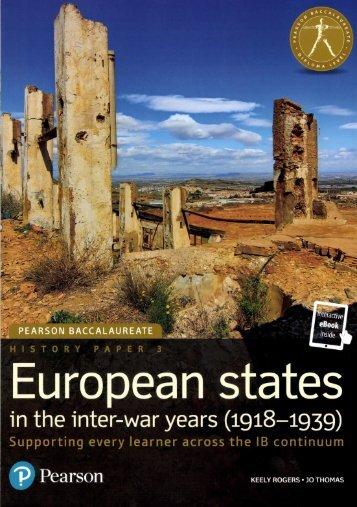SHELF 9780435183158 European States in the inter-war years 1918-1939 60p