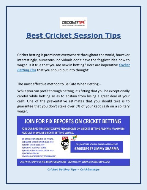 Cricket betting news tips mining bitcoins a scam