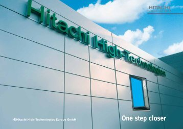 One step closer - Hitachi High-Technologies Europe