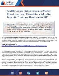 Satellite Ground Station Equipments Market Production, Sales Volume And Consumption Volume, Market Comparison Analysis & Forecast 2025