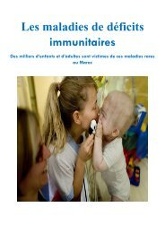 Les déficits immunitaires à la 1ère journée de L'AMICA