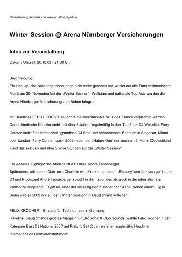 Winter Session @ Arena Nürnberger Versicherungen Infos zur ...