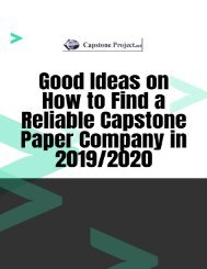 Good Ideas on How to Find a Reliable Capstone Paper Company in 2019/2020