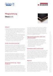 Pflegeanleitung für DirectLACK Oberflächen