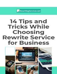 14 Tips and Tricks While Choosing Rewrite Service for Business