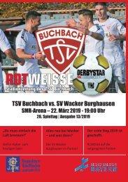 Stadionzeitung TSV Buchbach - SV Wacker Burghausen
