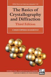 The basics of crystallography and diffraction (3rd Edition)