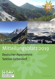 DAV Sektion Geltendorf Mitteilungsblatt 2019