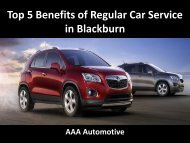 Top 5 Benefits of Regular Car Service in Blackburn
