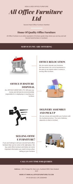 Used Office Furniture Auckland