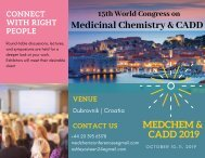 15th World Congress on Medicinal Chemistry & CADD