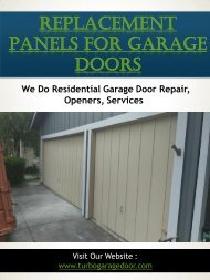 Replacement Panels For Garage Doors