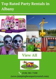 Top Rated Party Rentals in Albany