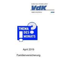 TdM  April 2019 Familienversicherung