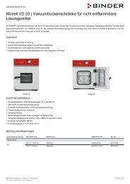 BINDER VD-Serie Vakuumtrockenschränke VD 23