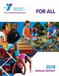 2018 Annual Report for the YMCA of Greater Brandywine